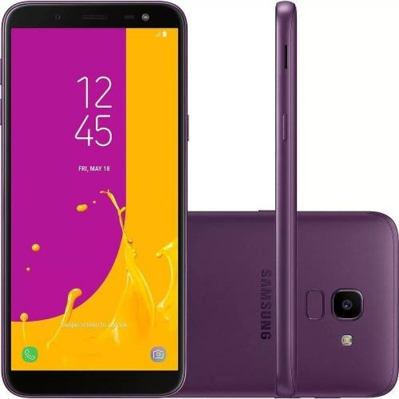 Celular Samsung J6 Galaxy Violeta 32gb Tela 5.6' Tv Digital