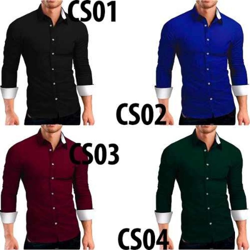 5e062bdef Kit 3 Camisas Camiseta Social Masculina Slim Tricoline Lycra. PrevNext
