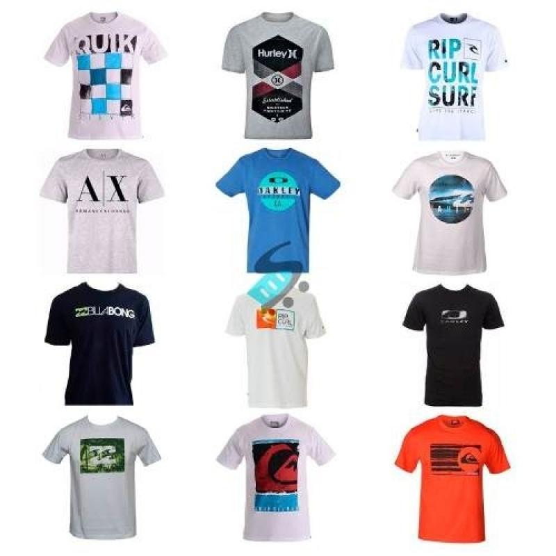 5954aac70a Kit 5 Camiseta Camisa Masculina Marca Estampada Imperdivel!