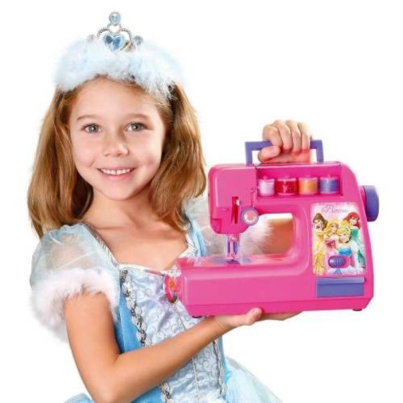 Mini Máquina Costura Infantil Princesas Costura De Verdade