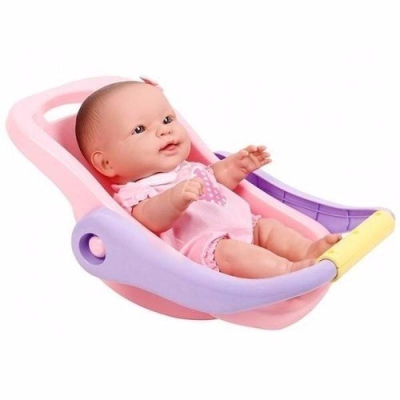 Boneca Bebê Conforto La New Reborn Menina Infantil Cotiplás
