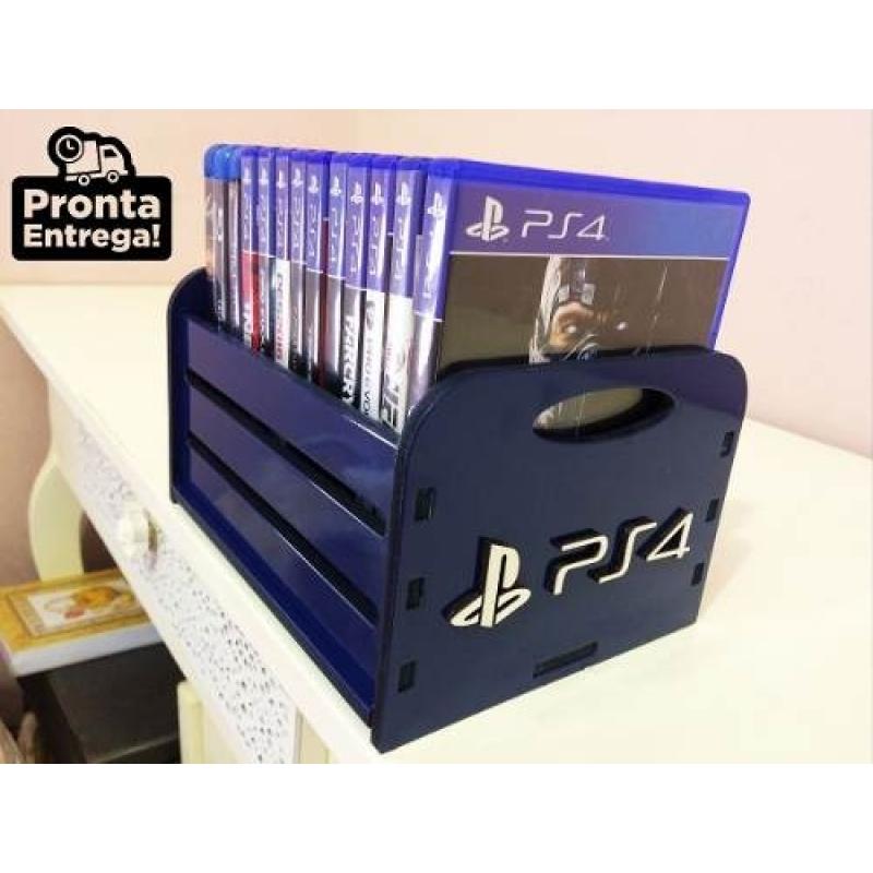 Porta Jogos, Caixa, Case P/ Games - Ps4 Xbox Ps3 Nintendo