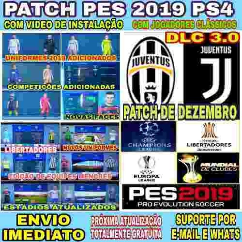 Patch P/ Pes 2019 Ps4 Envio Imediato + Atualização Grátis