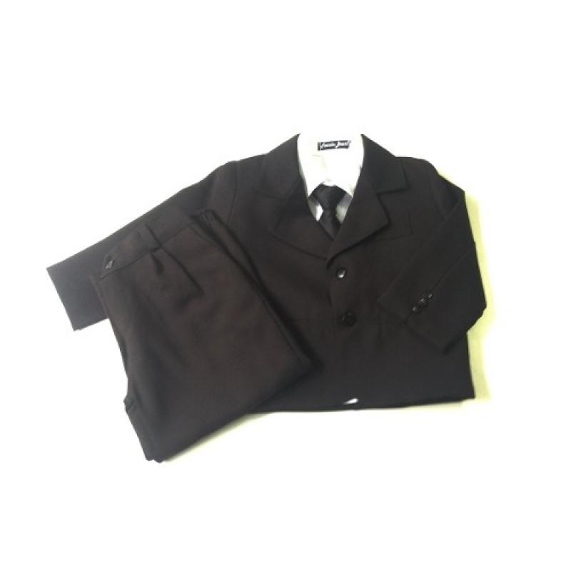>Terno Masculino Infantil Conjunto Completo Gravata Oxford