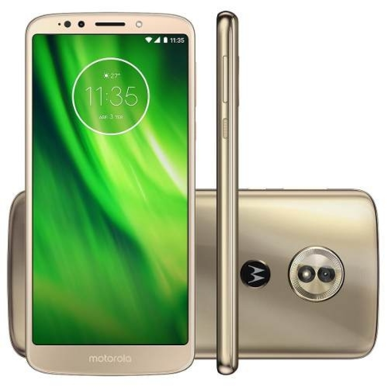 >Celular Motorola Moto G6 Play Dourado 32 Gb Xt1922