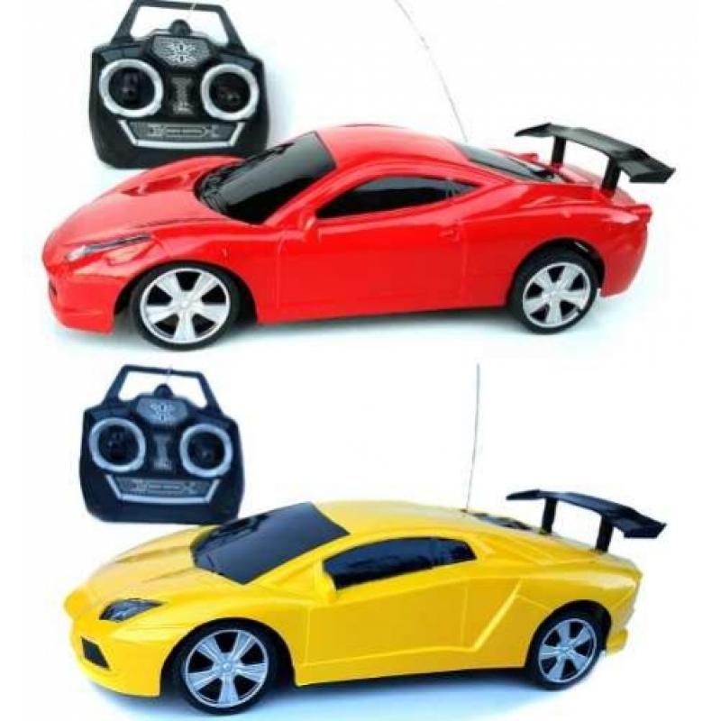 >2x Carrinho Carro Controle Remoto Corrida 4 Canais 19cm