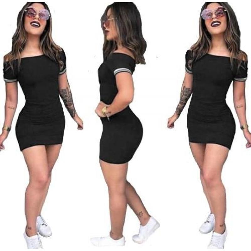 >Vestido Com Punho Listrado Curto Panicat Ref:15166
