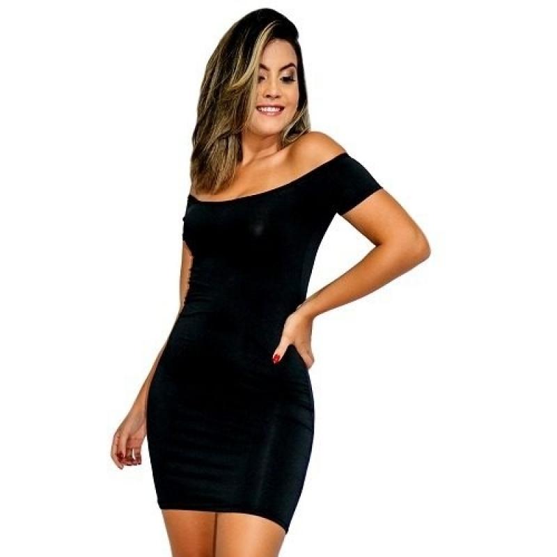 >Vestido Listrado Feminino Ombro A Ombro Manga Curta. Ref:001