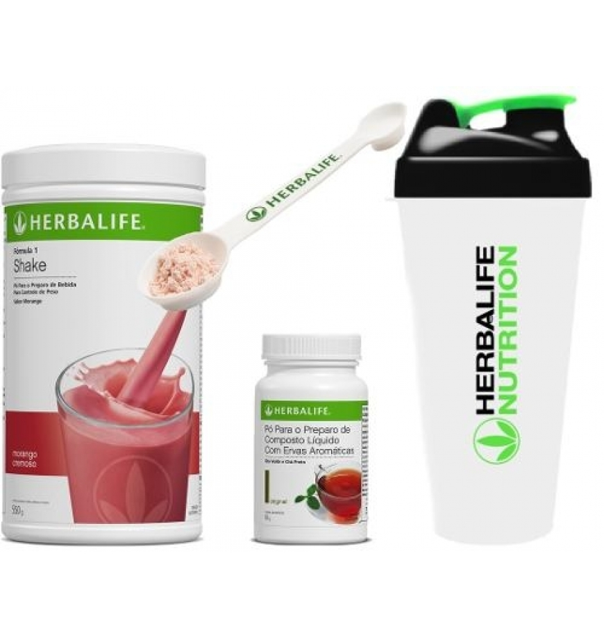 Shake Herbalife + Chá Or...