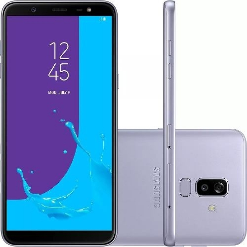 >Celular Samsung J8 64gb Prata Tela 6' 4g