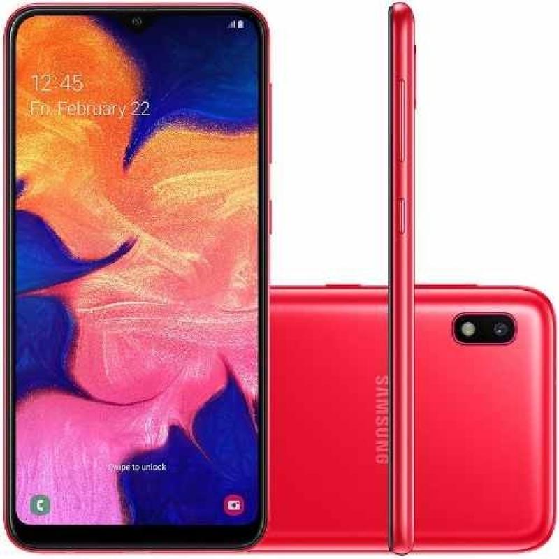 Celular Samsung A10 Vermelho 32gb 6.2' 2gb Ram 13mp Dual